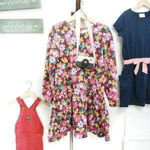 Hanna Andersson Floral Dress Size 120 6-7